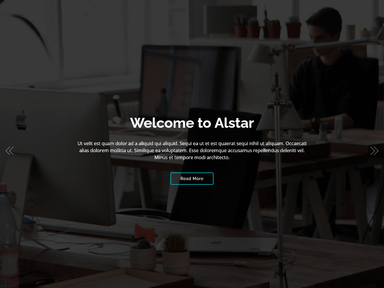 Alstar – One Page Bootstrap Template Theme Demo