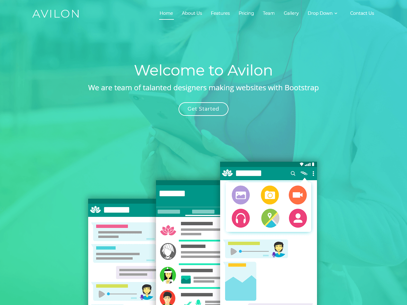Permanent Link to Avilon – Free Bootstrap Landing Page Theme