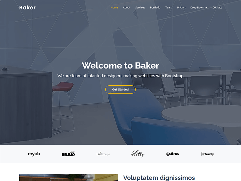 Baker - One Page Bootstrap Template