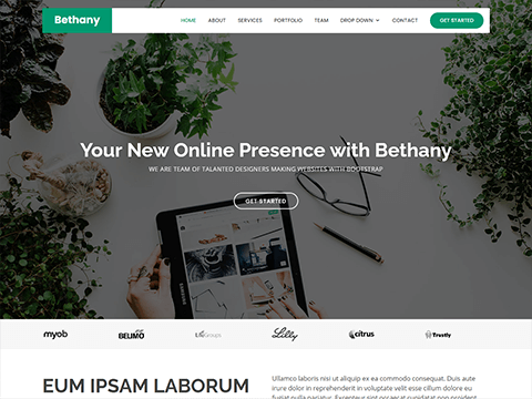 Bethany – Free Onepage Bootstrap Theme