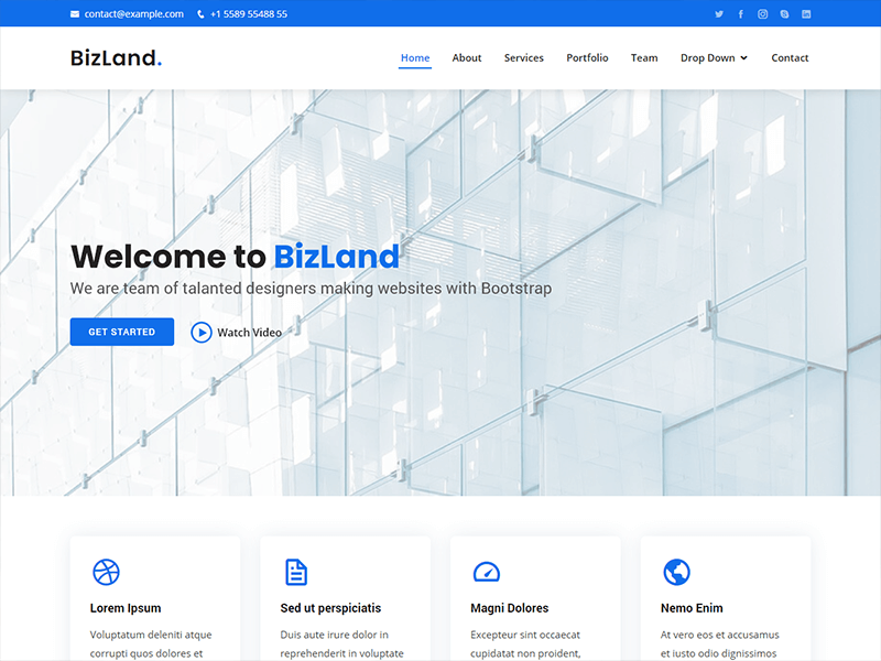 BizLand - Bootstrap Business Template