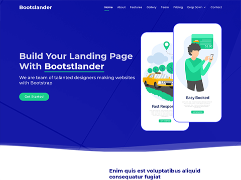 Bootslander – Bootstrap Landing Page Template