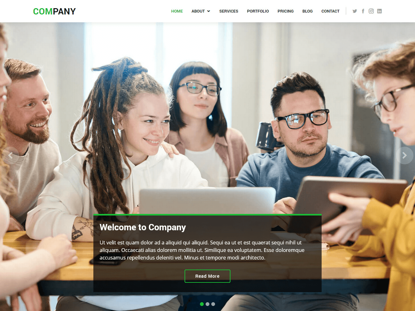 Company free html bootstrap template bootstraptaste for Contact us template free download