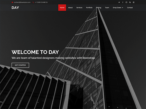 Day – Multipurpose HTML Template for Free