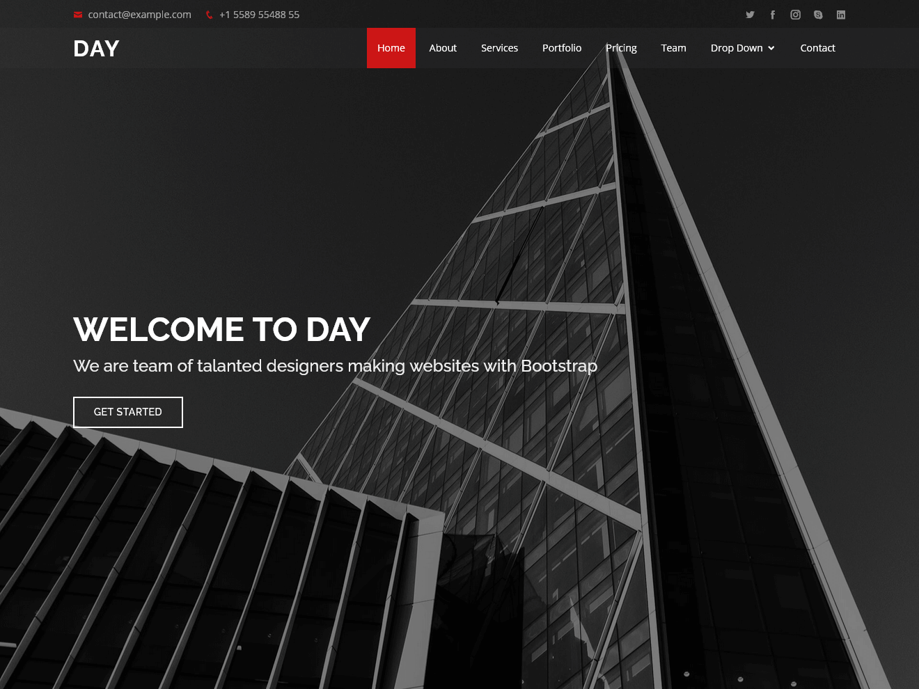 Permanent Link to Day – Multipurpose HTML Template for Free