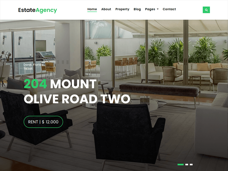 EstateAgency - Bootstrap Real Estate Website Template
