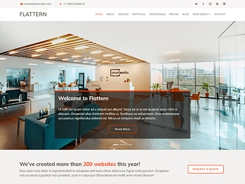 Flattern – Multipurpose Bootstrap Business Template