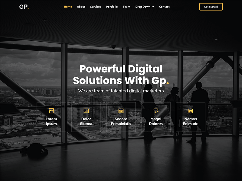 Gp - Free Multipurpose HTML Bootstrap Template