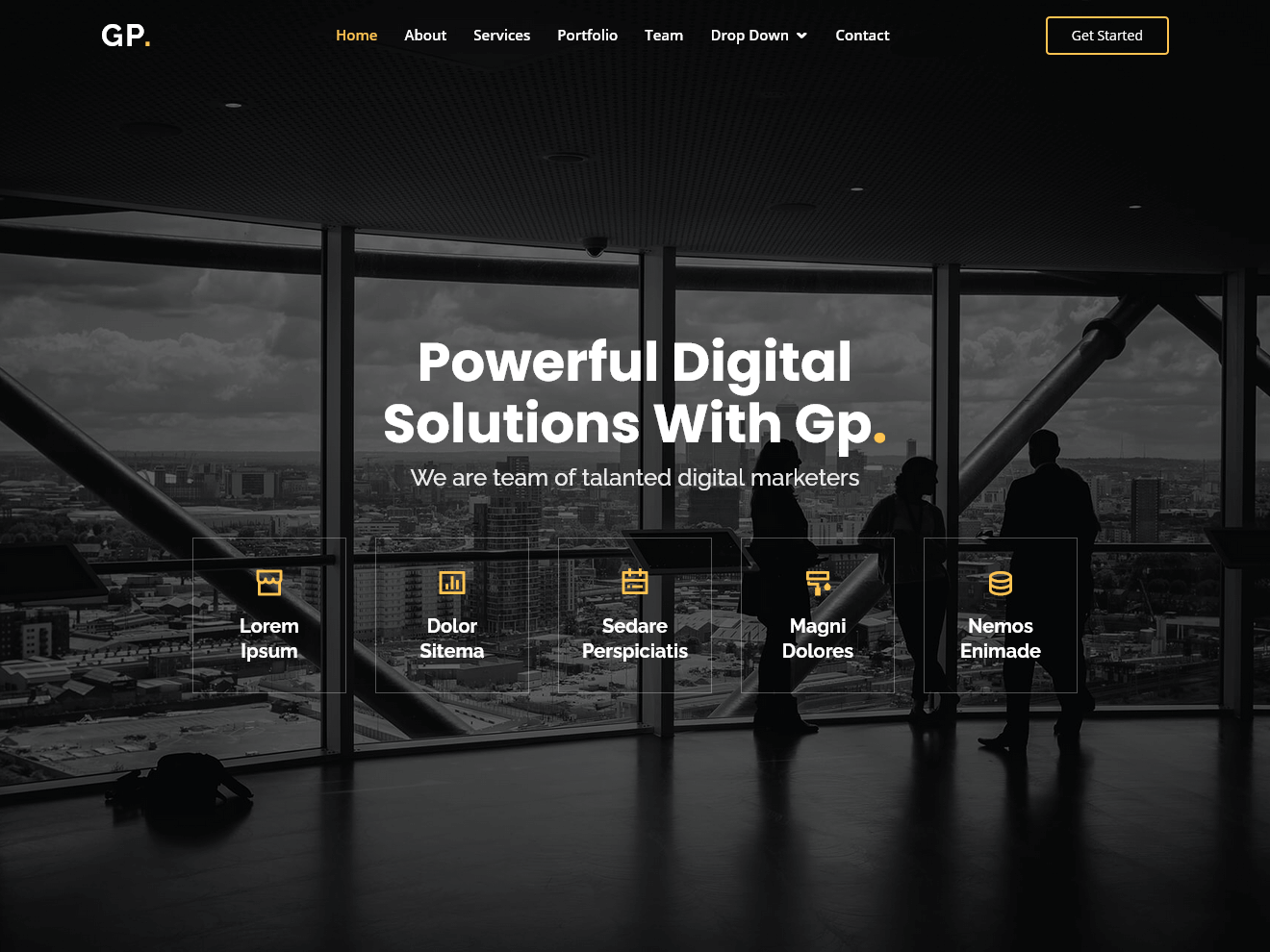 Gp.Free MultiPurpose HTML Bootstrap Template Theme Demo