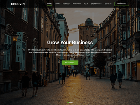 Groovin – Free Bootstrap Theme