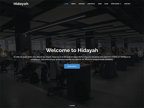 Hidayah free simple HTML template for corporate