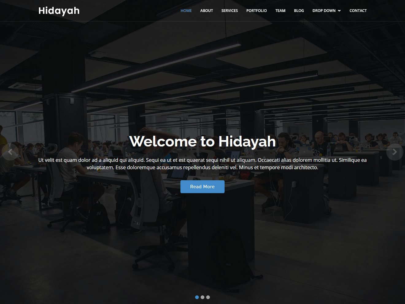 Permanent Link to Hidayah free simple HTML template for corporate