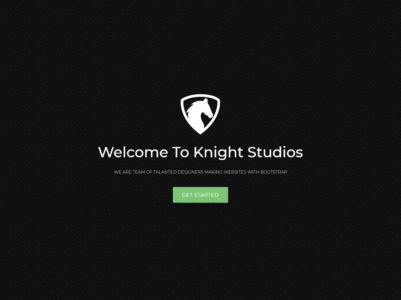 Knight – Free Bootstrap Theme Theme Demo