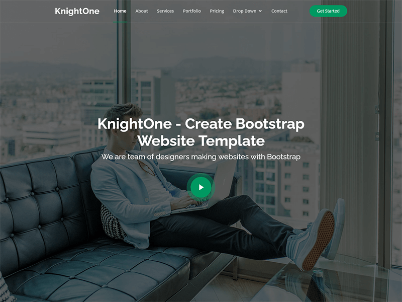 KnightOne - One Page Bootstrap Template