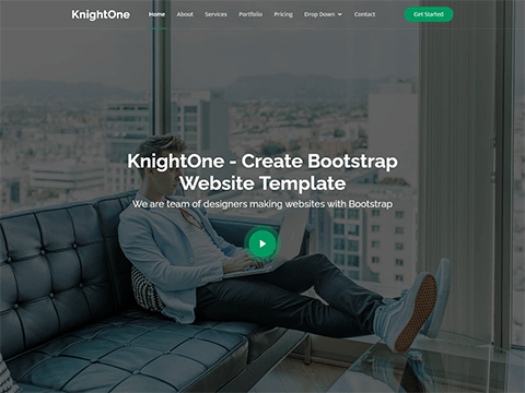 KnightOne – One Page Bootstrap Template