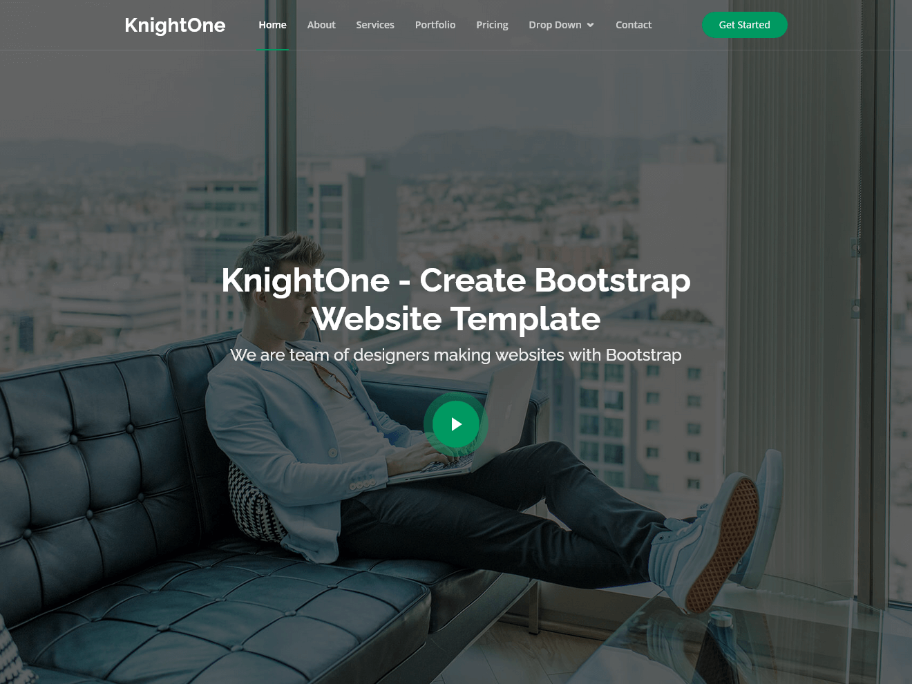 KnightOne – Simple One Page Bootstrap Template