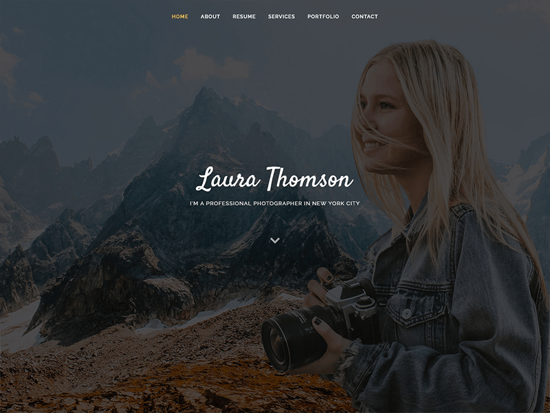 Laura - Free Creative Bootstrap Template
