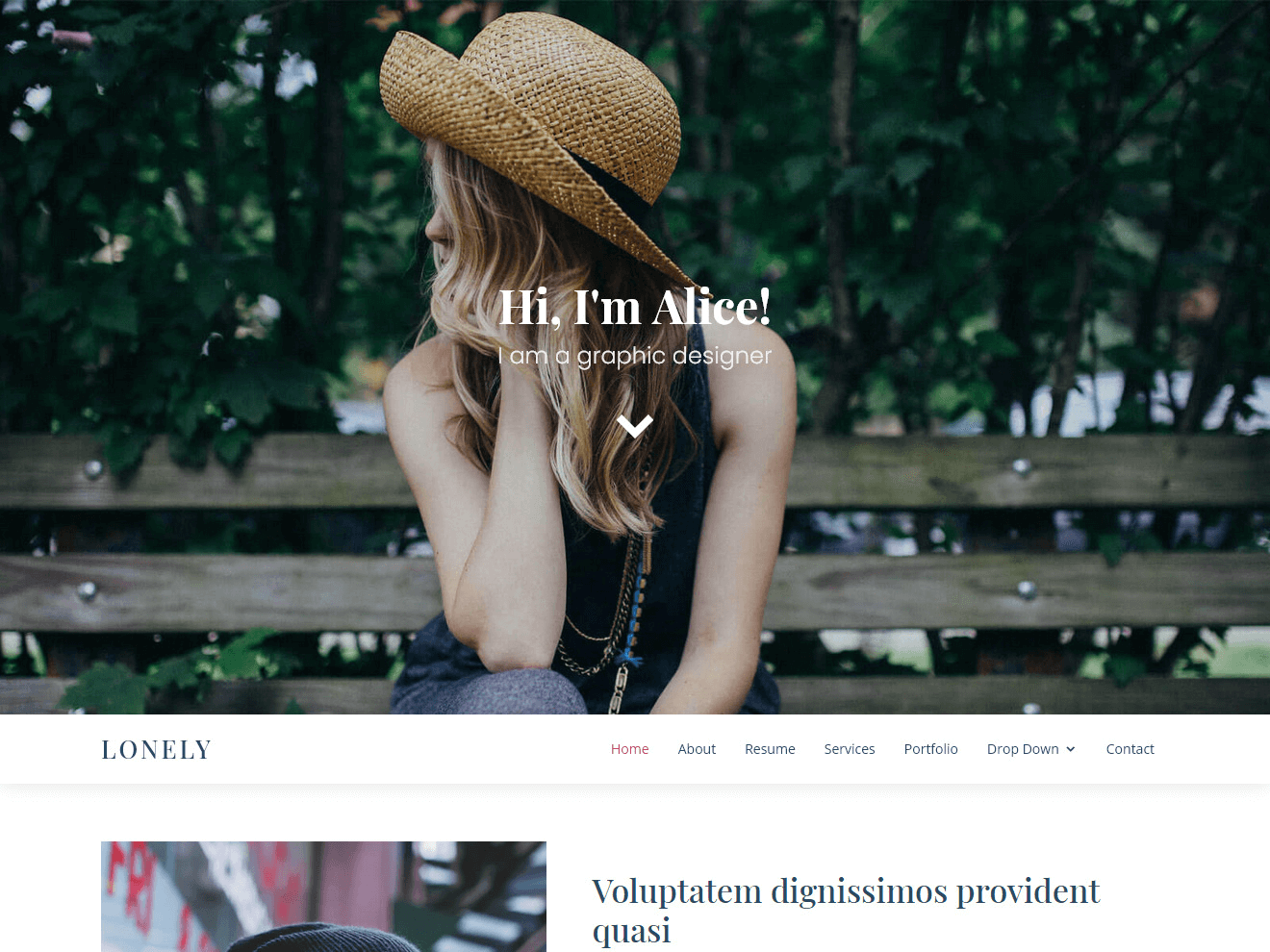 Free HTML Bootstrap template - Lonely
