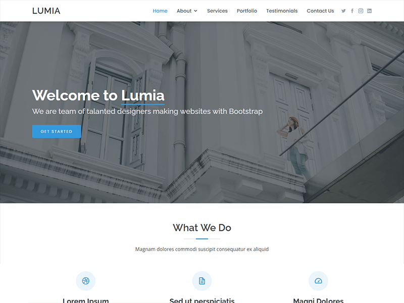 Lumia – Bootstrap Business Template