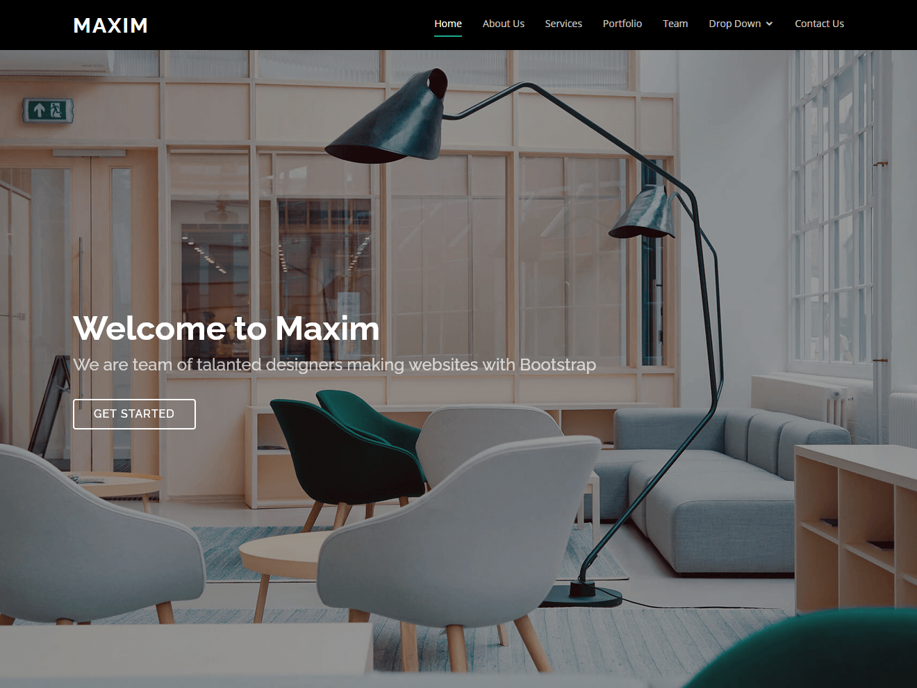 maxim free onepage bootstrap theme bootstrapmade
