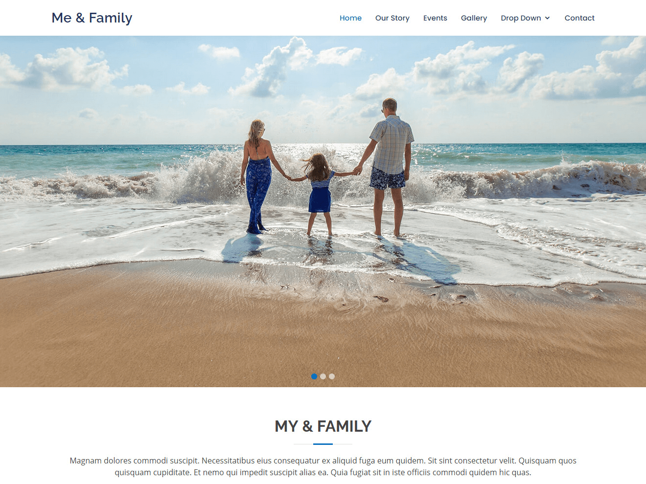 Me & Family – Bootstrap Family Website Template