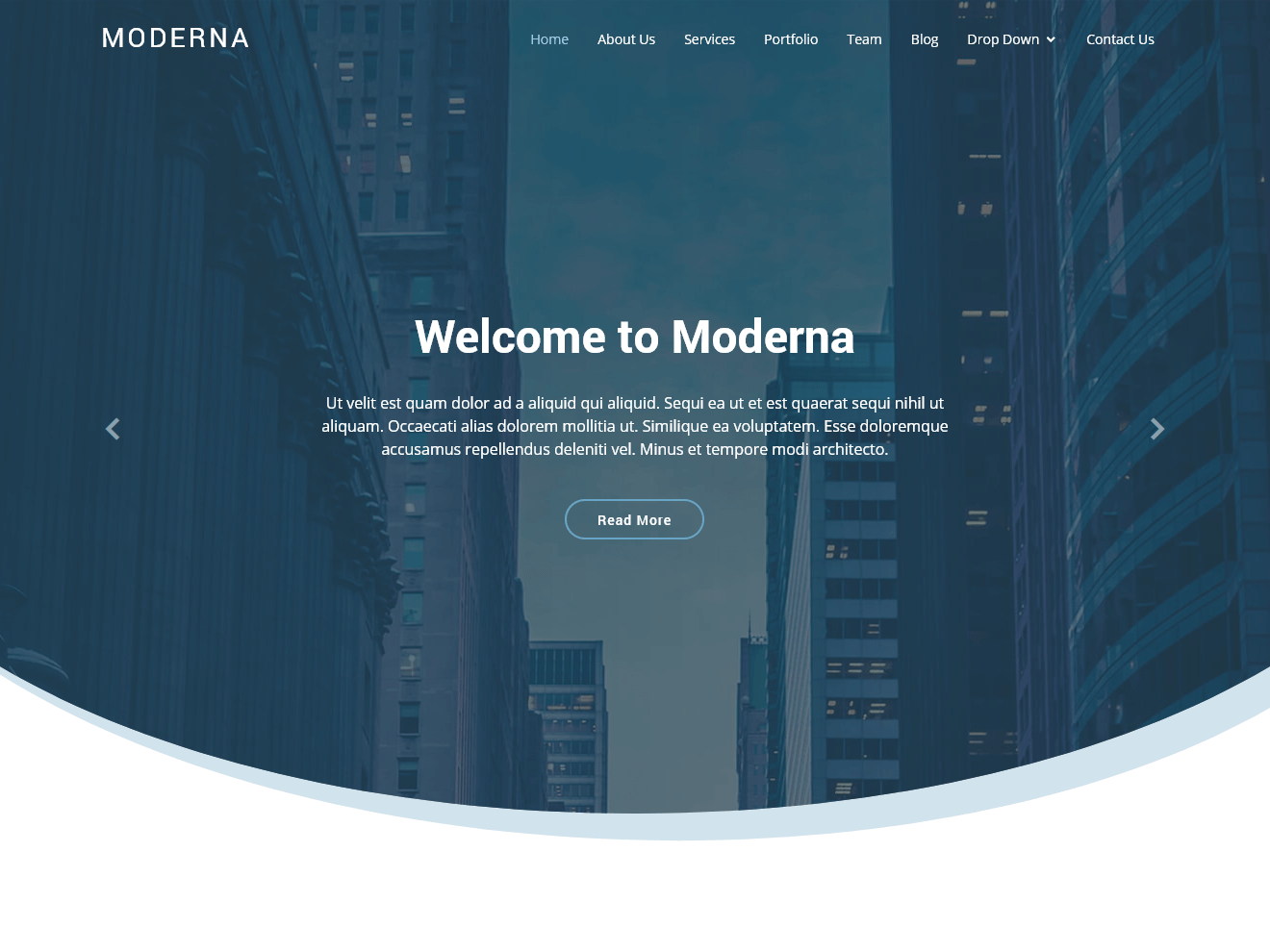Free Bootstrap template for corporate – Moderna Theme Demo
