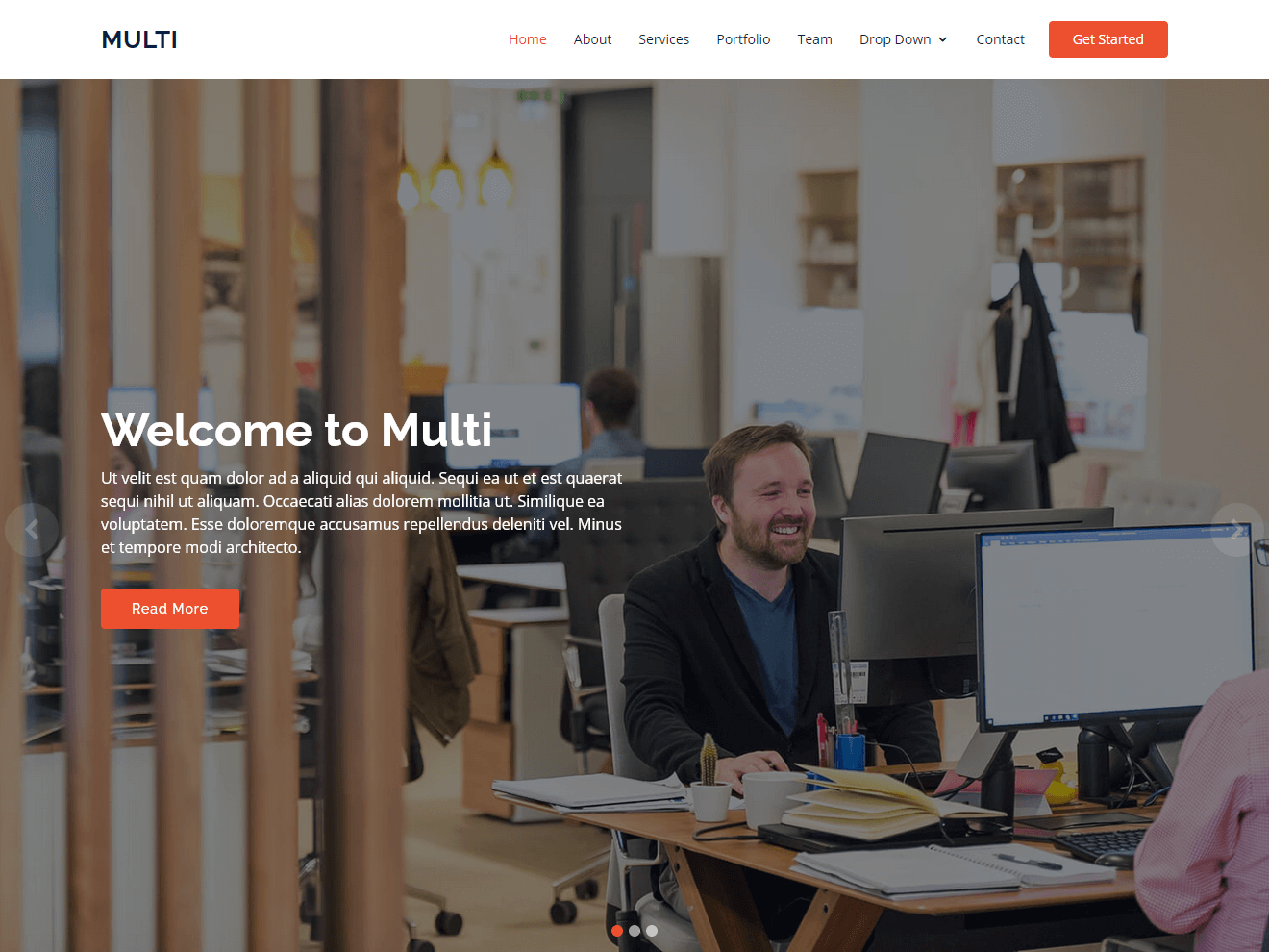Multi – Responsive Bootstrap Template Theme Demo