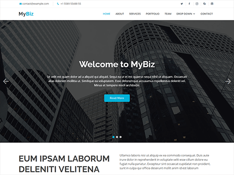 MyBiz – Free Business Bootstrap Theme