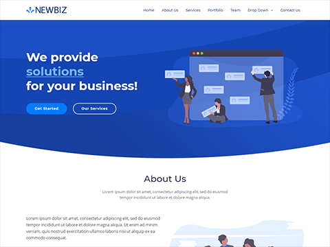 NewBiz – Bootstrap Corporate Business Template