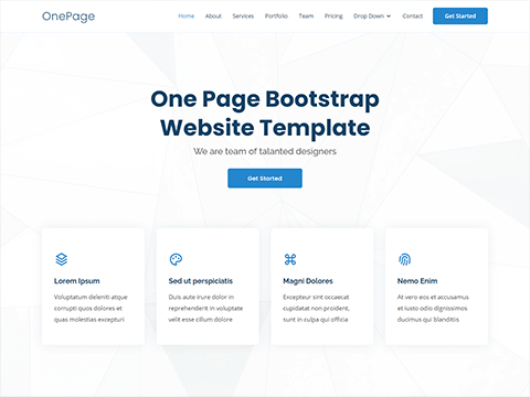 OnePage – Multipurpose Bootstrap One Page Template