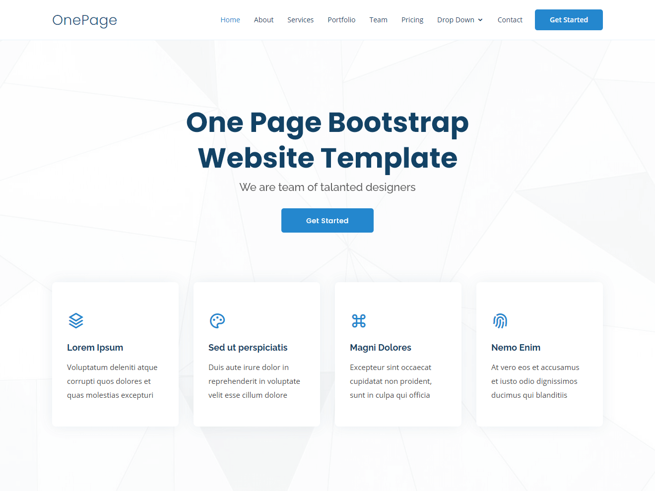 OnePage –  Multipurpose Bootstrap Template Theme Demo