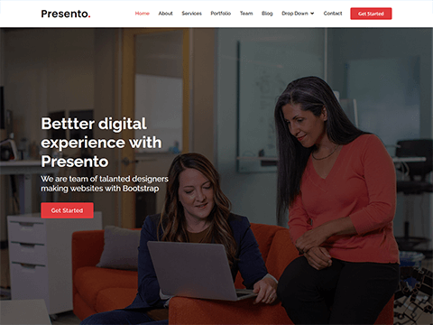 Presento – Bootstrap Corporate Template