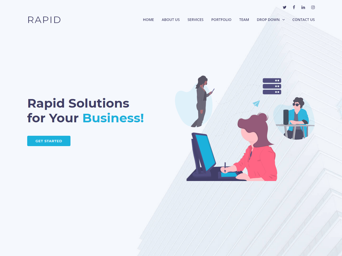 Rapid - Multipurpose Bootstrap Business Template