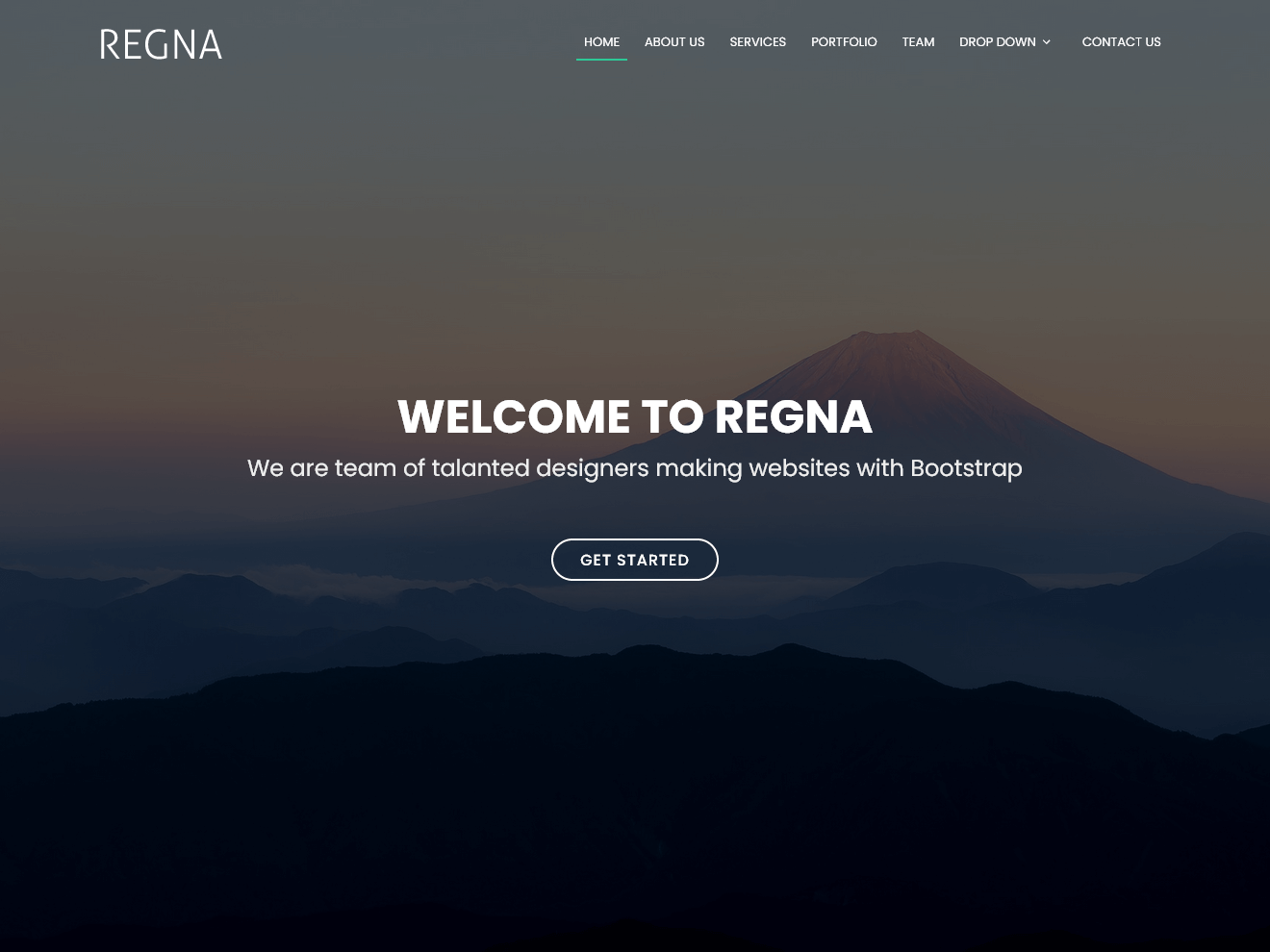 Regna Free Bootstrap Theme