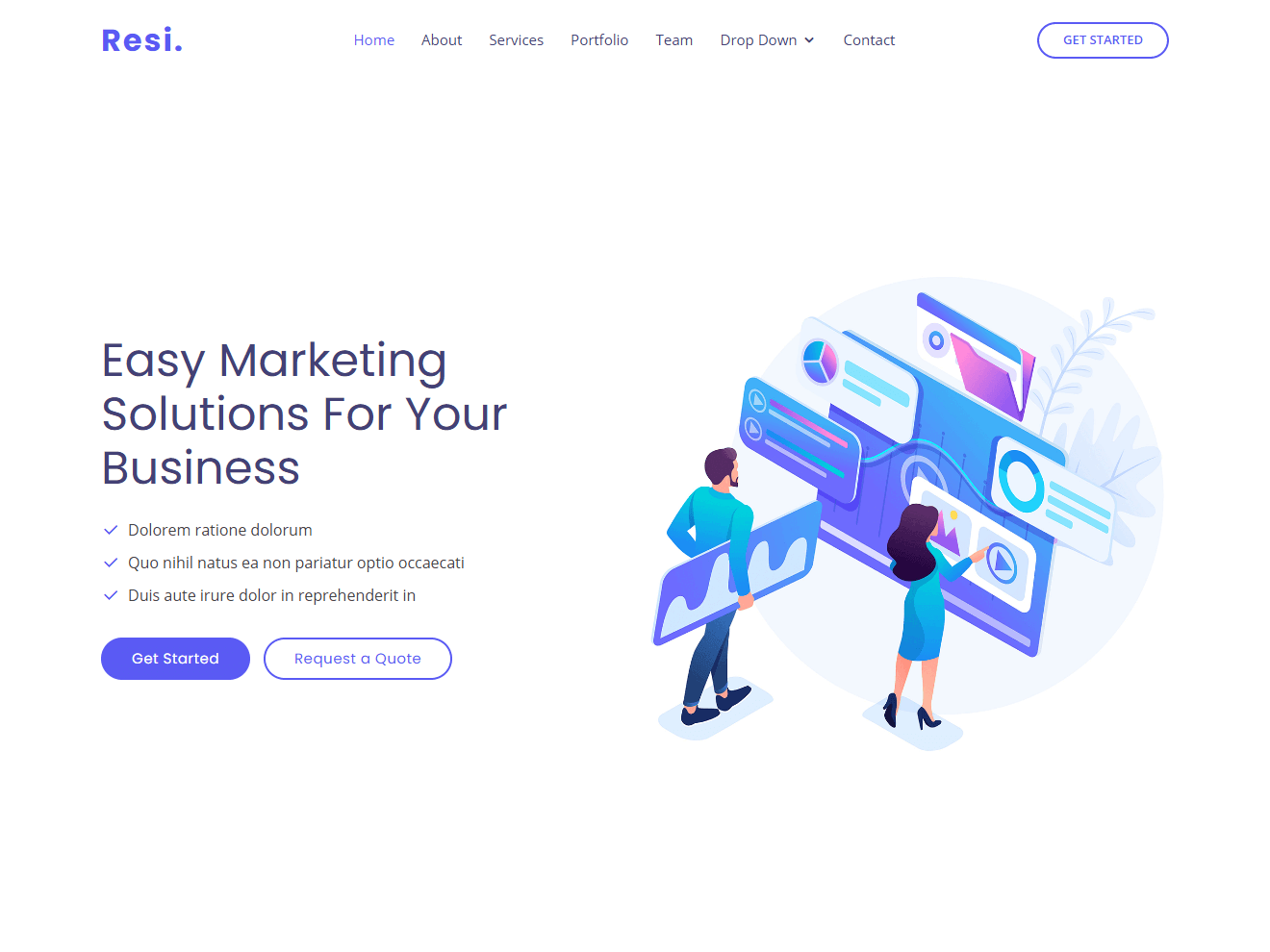 Resi - Bootstrap Landing Page Template