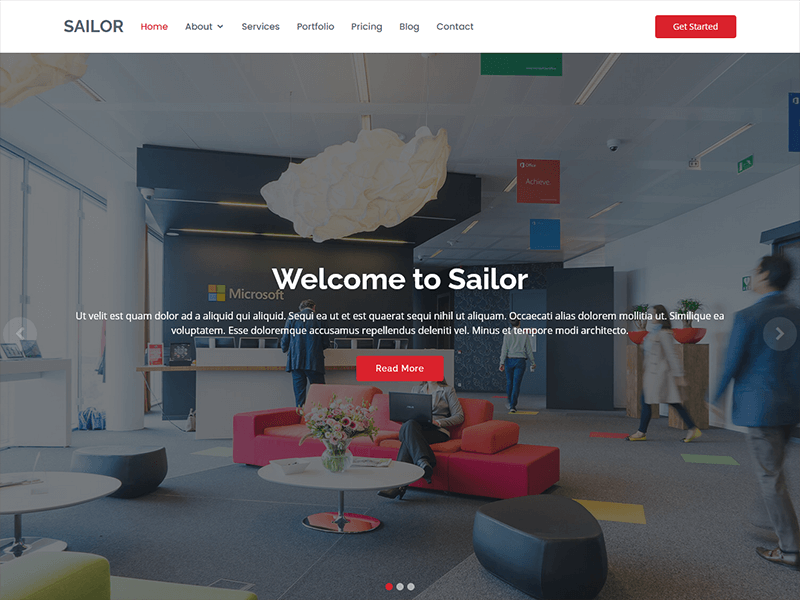 Sailor – Bootstrap Business Template