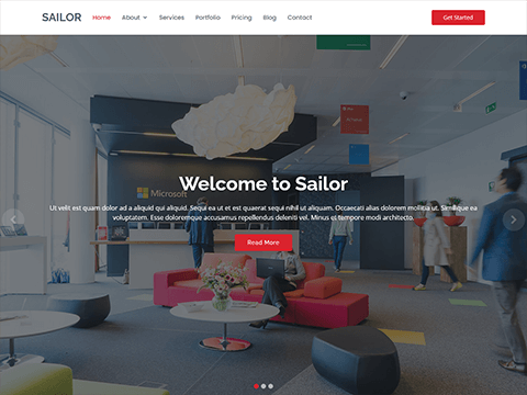 Sailor – Free Bootstrap Theme