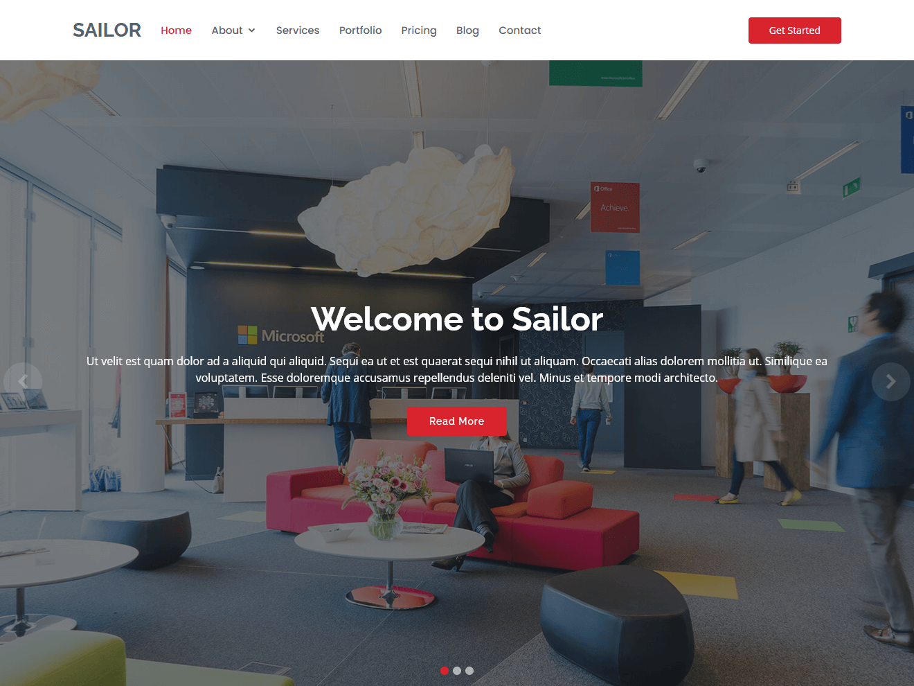 Sailor – Free Bootstrap Theme Theme Demo