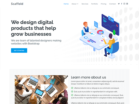 Scaffold – Clean Bootstrap Template