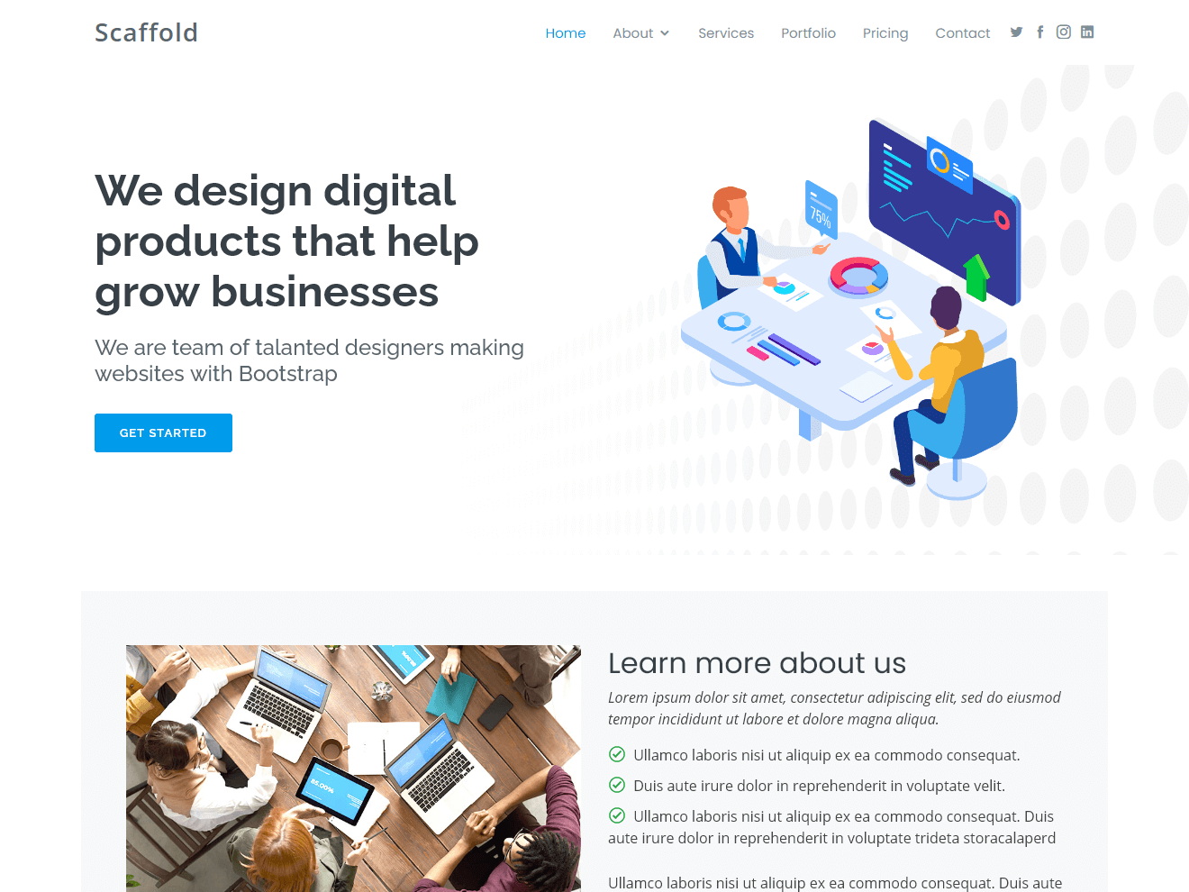 Scaffold - Clean Bootstrap Template