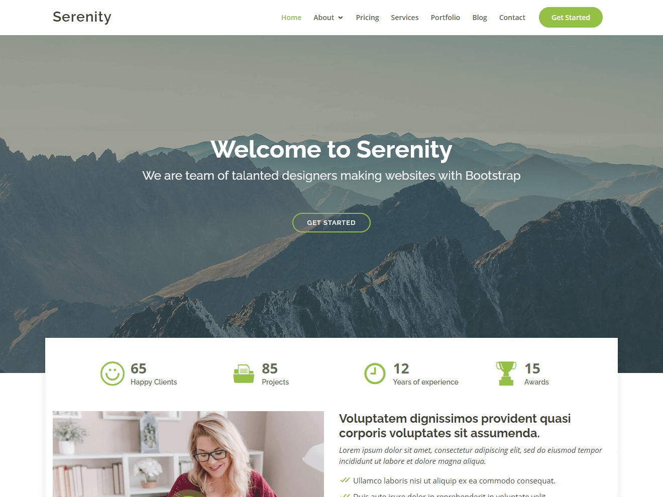 Serenity - Bootstrap Corporate Template