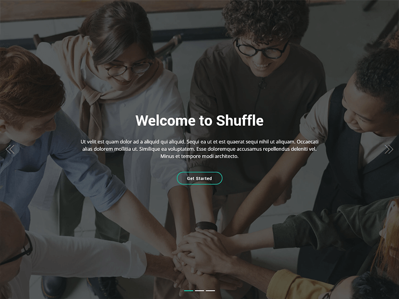 Shuffle - Free Bootstrap One Page HTML Template