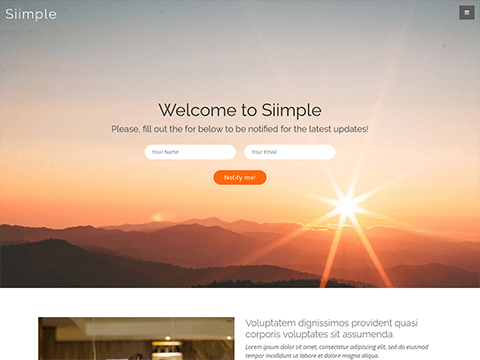 Free bootstrap landing page template