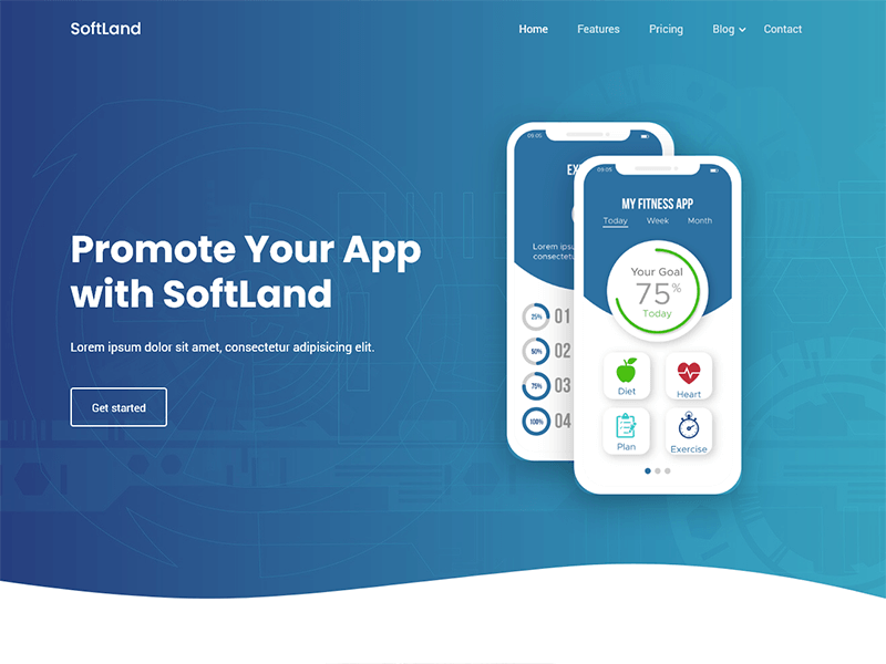 SoftLand - Bootstrap App Landing Page Template