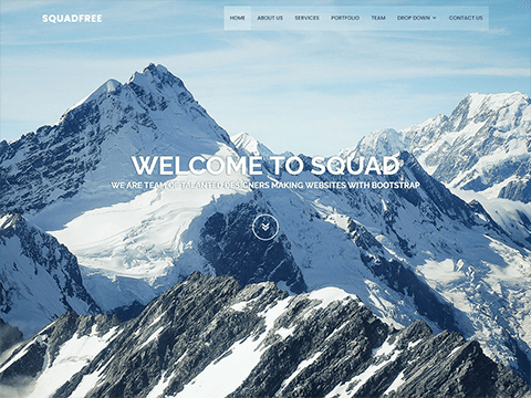 Squadfree – Free Bootstrap template for creative