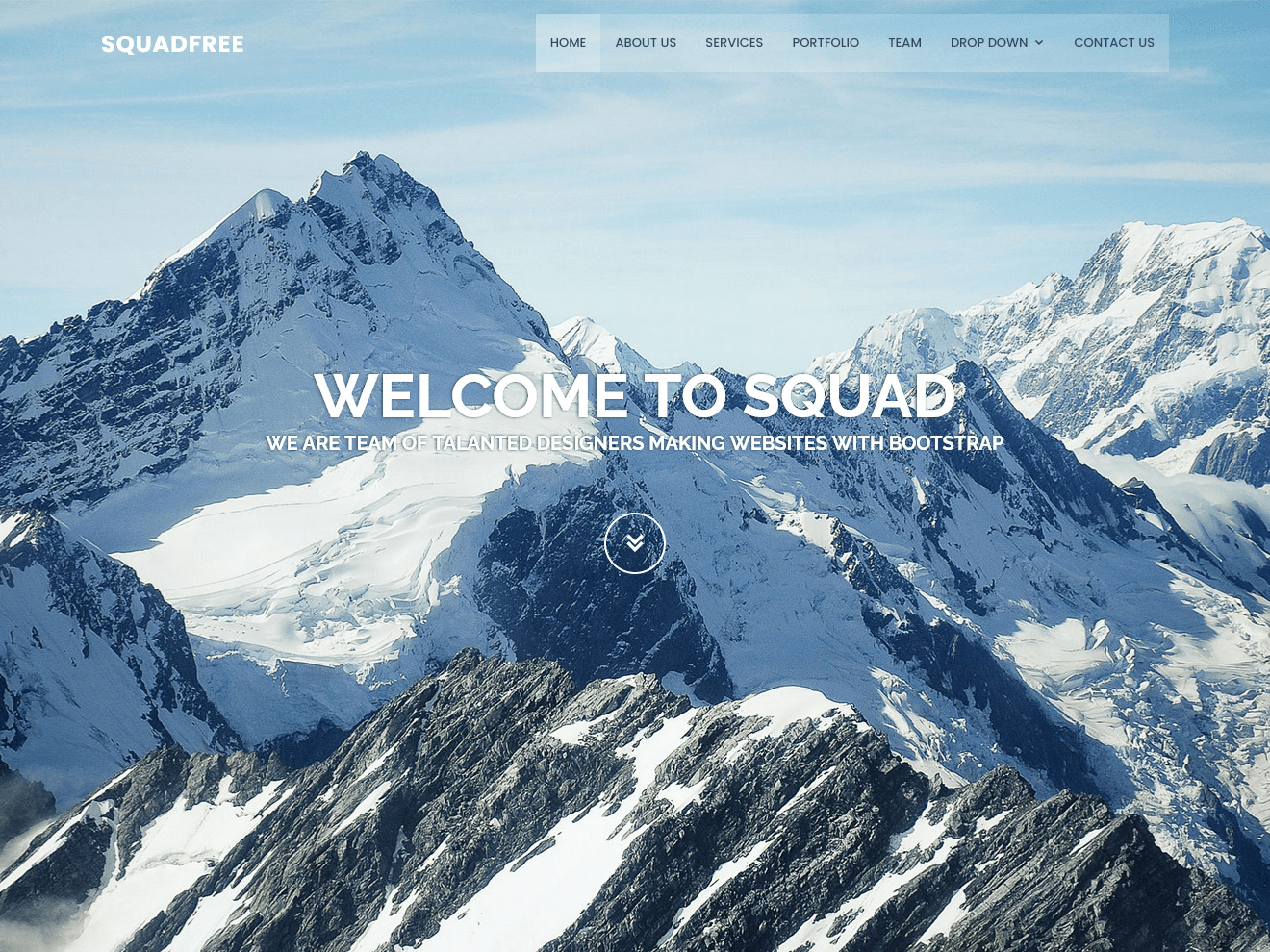Squadfree - Free Bootstrap template for creative