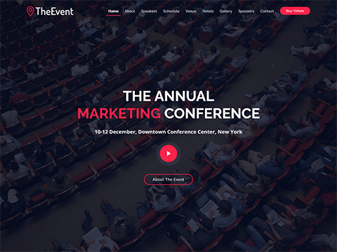 TheEvent – Free Event and Conference Bootstrap Template