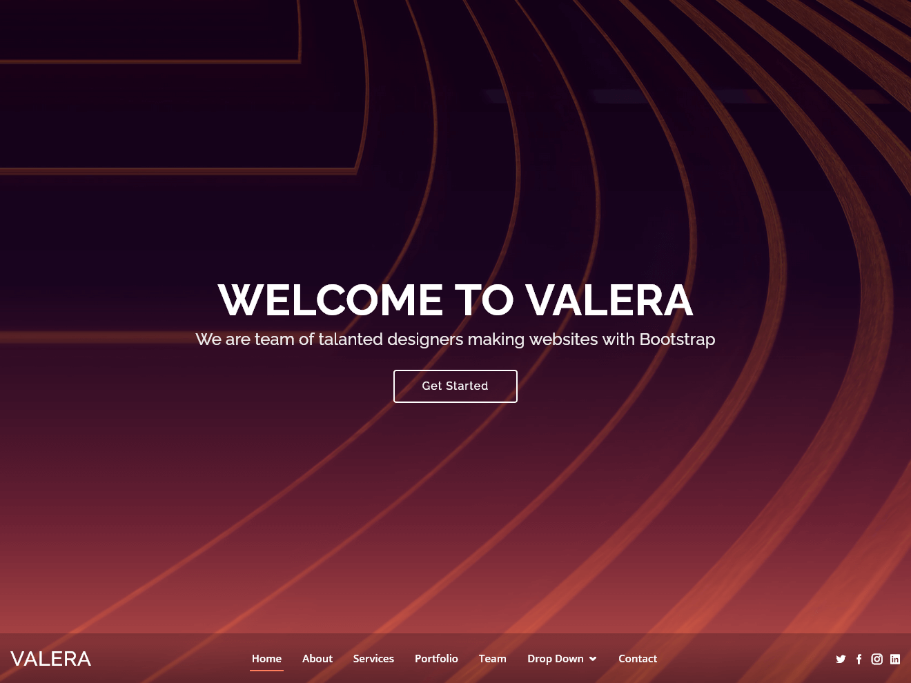 Valera – Bootstrap One Page Theme