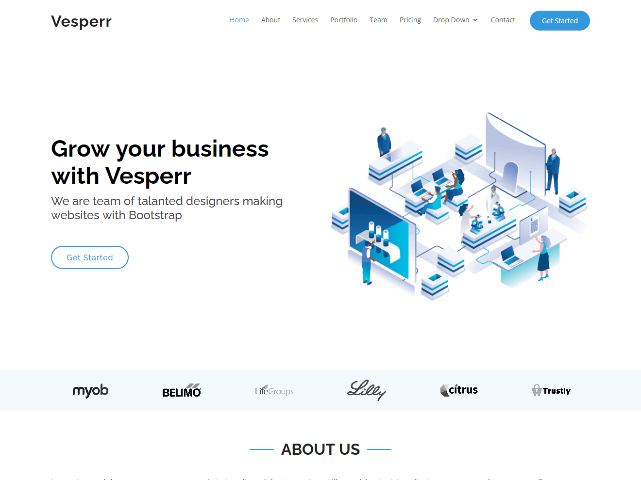 Permanent Link to Vesperr – Onepage Bootstrap Business Template