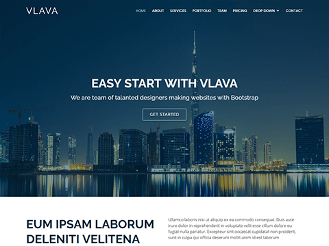 Vlava – Bootstrap One Page Template